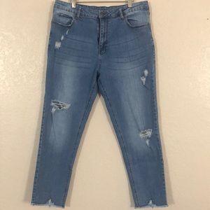 101 Dip Tattered jeans. Sz13